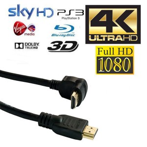 20x 10m HDMI Right Angled Gold Plated Cable Ethernet Lead HDTV PS3/4 SKY 3D 4K