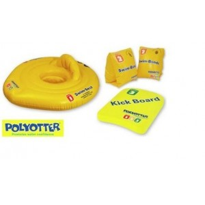10 x 4 Piece - Learn to Swim Gear KickBoard, Life Seat, Arm Bands, Swim Seat  Ages 3m-12 Years