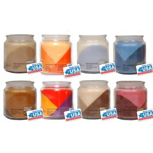 6x Assorted Luxury Wax Candle Glass Jar Triple Scented & Layered Candles 15oz Made in USA