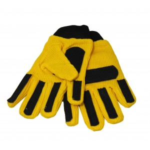 100 x Pairs of Children`s Kids Gloves in Yellow with grips
