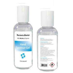 25 Hand Sanitiser 100ml Gel Bacteria Blaster Kills 99.9% CE Approved