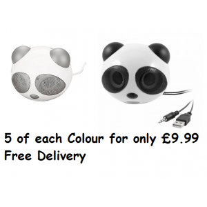 10 x Panda Animal Speaker - 2 Different Colours - New Lower Price