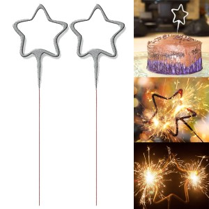 100x 2 Pack Star Shaped Sparklers for Parties, Cakes, Birthdays, Fun Outdoor and Indoor Use