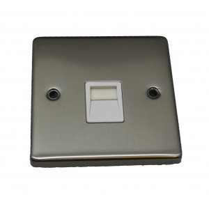 40 x Telephone Extension Socket in Silver